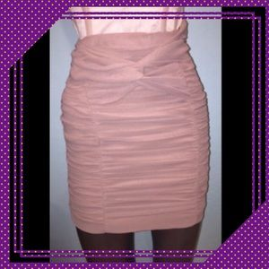 Ruched blush Skirt